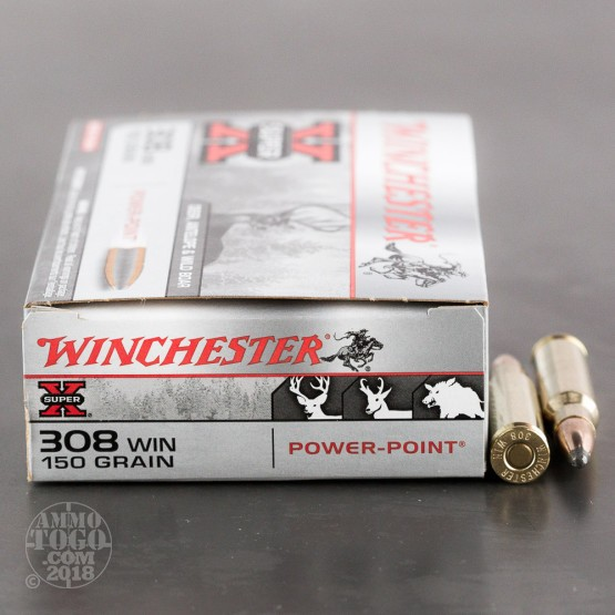 20rds - 308 Winchester 150gr. Super-X Power Point Ammo