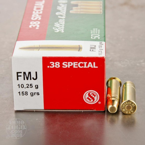 1000rds - 38 Special Sellier & Bellot 158gr. FMJ Ammo