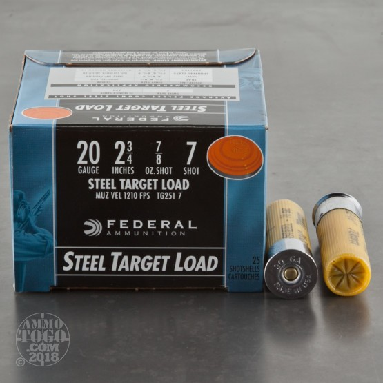 20 Gauge  7 Shot Ammo For Sale By Federal