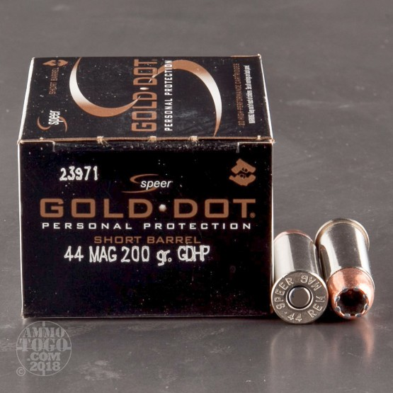 20rds - 44 Mag Speer Gold Dot Short Barrel 200gr. HP Ammo