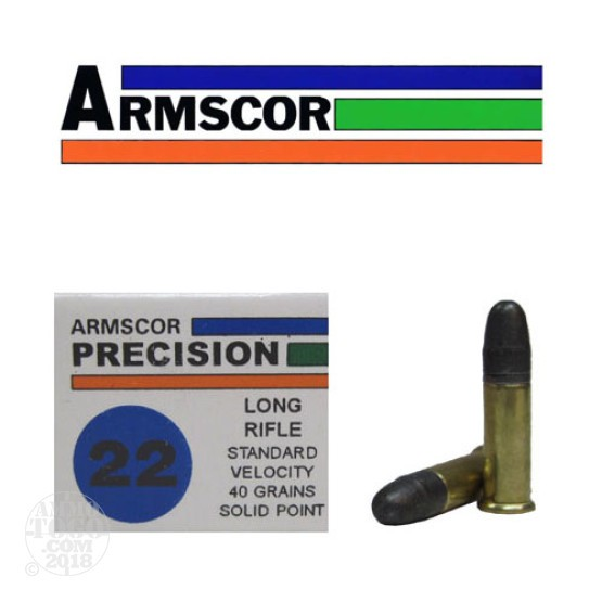 500rds - 22LR Armscor Precision 40gr Standard Velocity Solid