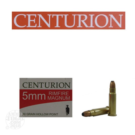 50rds - 5mm Rimfire Magnum Centurion 30gr. Hollow Soft Point