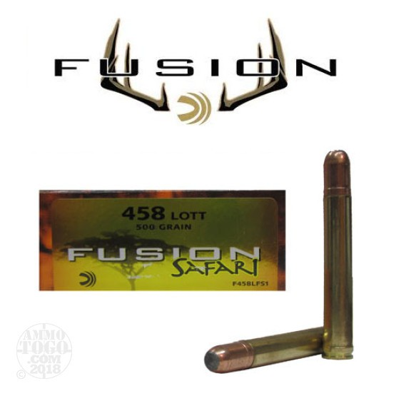 20rds - 458 Lott Federal Fusion Safari 500gr. SP Ammo