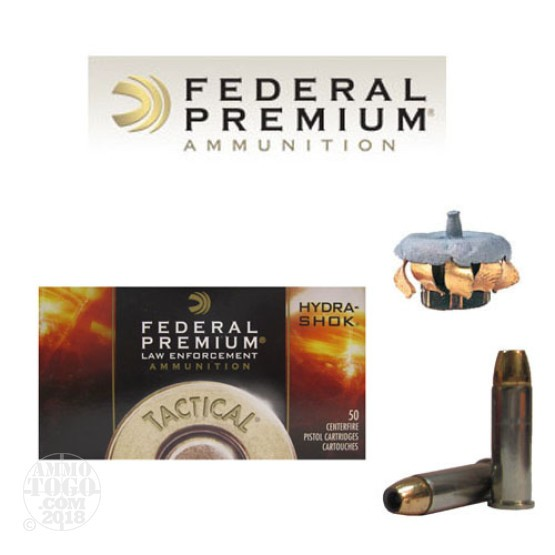 50rds - 38 Special Federal LE Tactical Hydra-Shok 147gr. +P+ HP