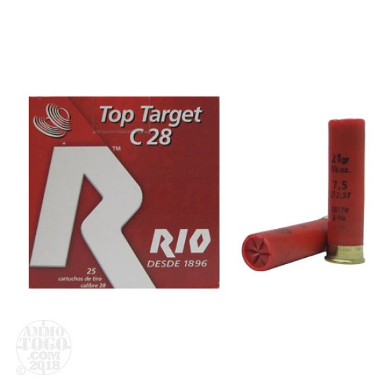 "25rds - 28 Gauge Rio Game Load C 28 2 3/4"" 1oz. #8 Shot Ammo"