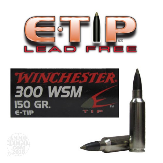 300 win short mag ammo 20 rounds of 150 grain polymer tipped by