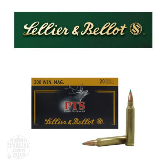 20rds - 300 Win Mag Sellier and Bellot 180gr. PTS Polymer Tip Ammo