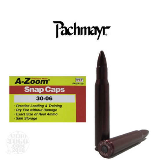 2rds - 30-06 Pachmayr A-Zoom Snap Caps