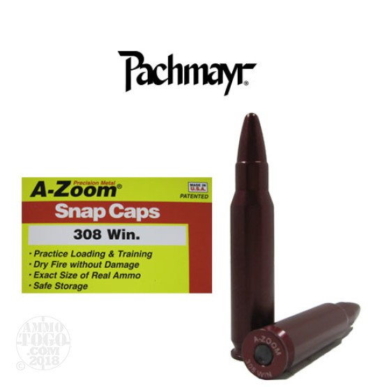2rds - 308 Win Pachmayr A-Zoom Snap Caps