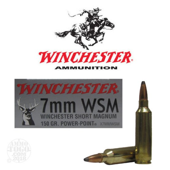 20rds - 7mm WSM Winchester Super-X 150gr. Soft Point Ammo