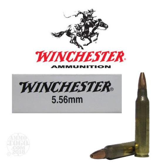 20rds - 5.56 Winchester ZQ3314 Open Tip 62gr. FBI Training Ammo
