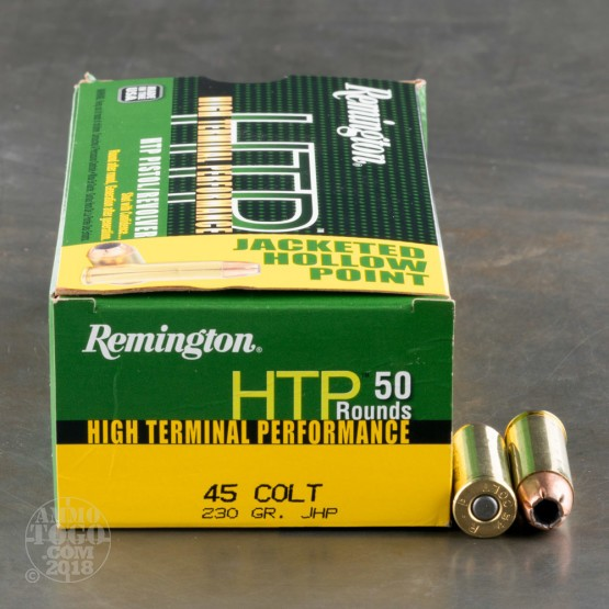 50rds - 45 Long Colt Remington High Terminal Performance 230gr. JHP Ammo