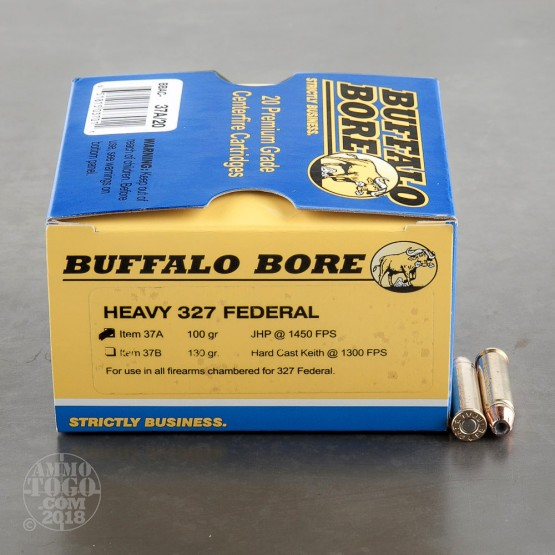 20rds - 327 Federal Heavy Buffalo Bore 100gr. JHP Ammo