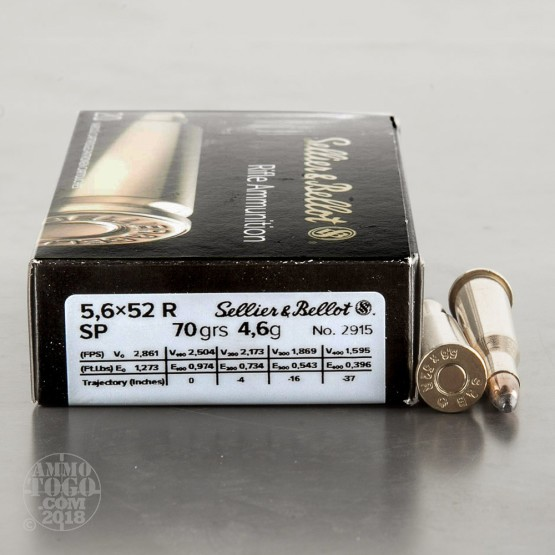 20rds – 22 Savage Hi-Power Sellier & Bellot 70gr. SP Ammo