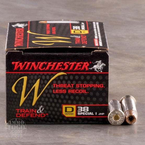20rds - 38 Special Winchester W Train and Defend 130gr. JHP Ammo