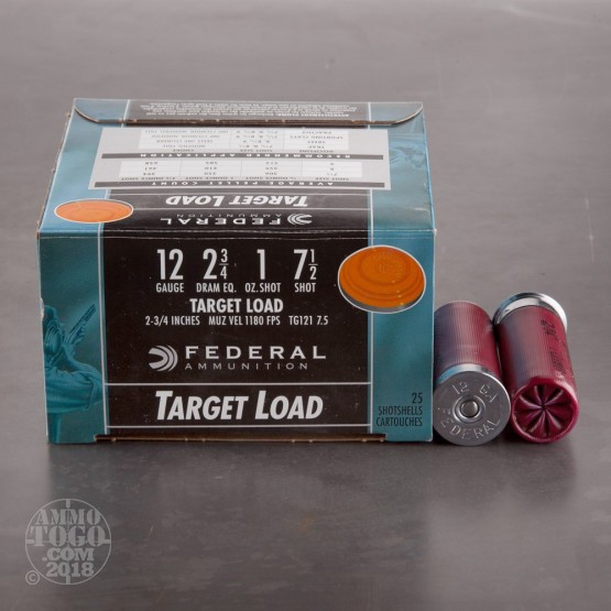 "25rds - 12 Gauge Federal Top Gun Target Load 2 3/4"" 1oz. #7 1/2"