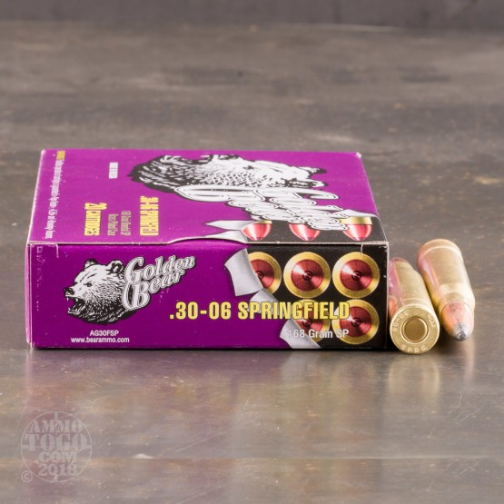 500rds - 30-06 Golden Bear 168gr. SP Ammo