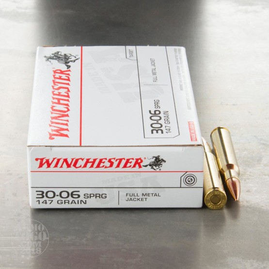 20rds - 30-06 Winchester 147gr. FMJ Ammo