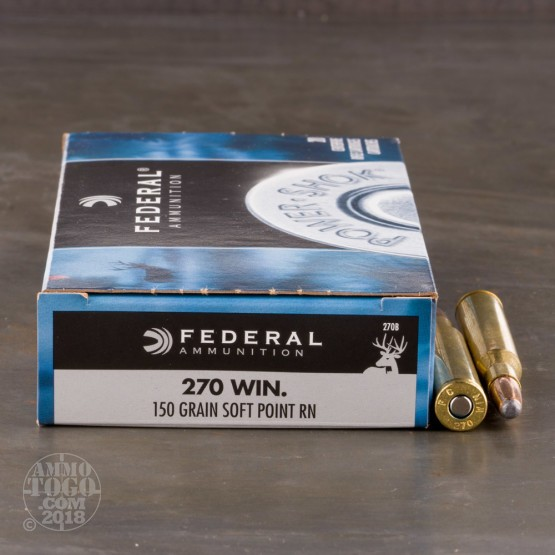 20rds - .270 Federal Power-Shok 150gr. SP Ammo