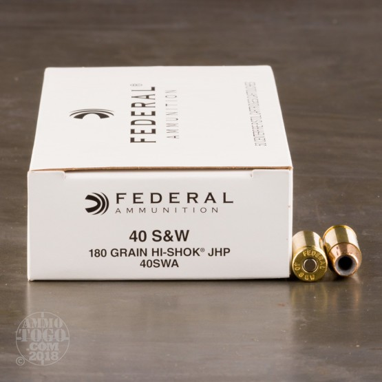 1000rds - 40 S&W Federal LE Hi-Shok 180gr. Hollow Point Ammo