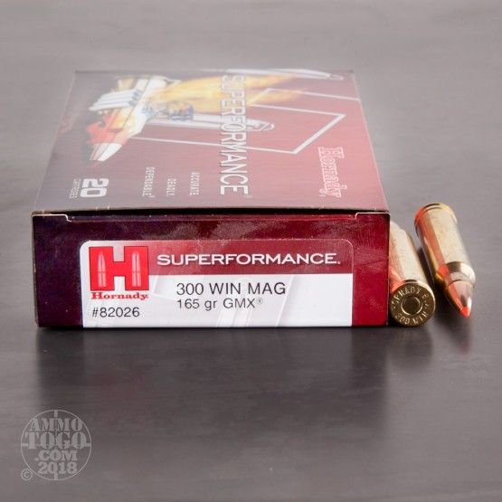 20rds - 300 Win Mag Hornady 165gr. GMX Superformance Ammo