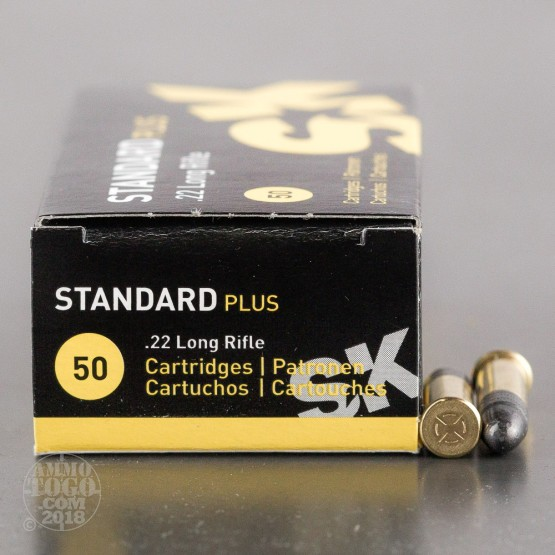 50rds - 22LR SK Standard Plus 40gr. Solid Point Ammo