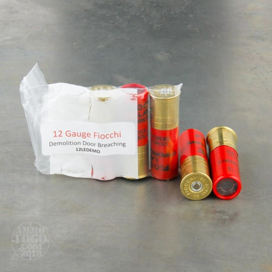 5rds - 12 Gauge Fiocchi Demolition Door/Lock Breaching Ammo 2 3/4 & 12 Gauge Ammunition for Sale. Fiocchi Rifled Slug - 5 Rounds