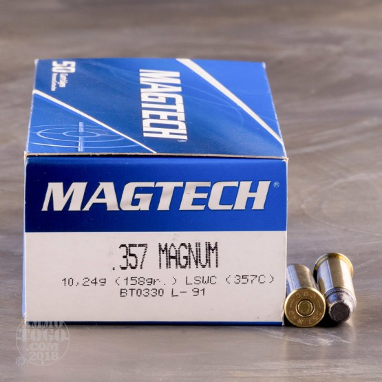 50rds - 357 Mag Magtech 158gr. LSWC Ammo