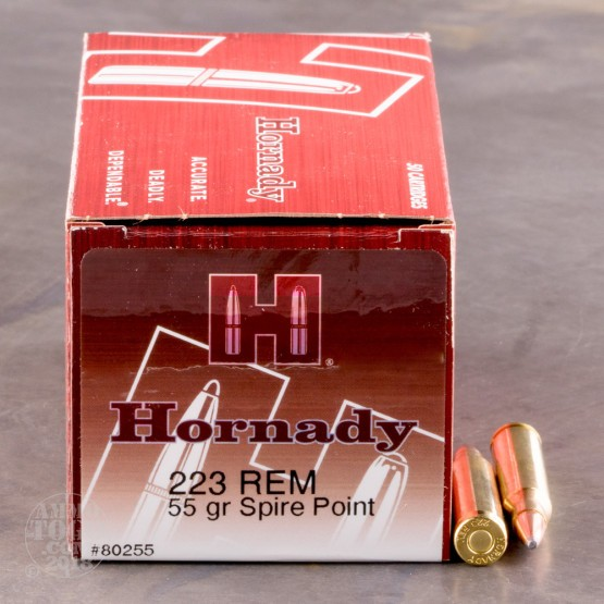 50rds - 223 Rem Hornady 55gr. Soft Point Ammo
