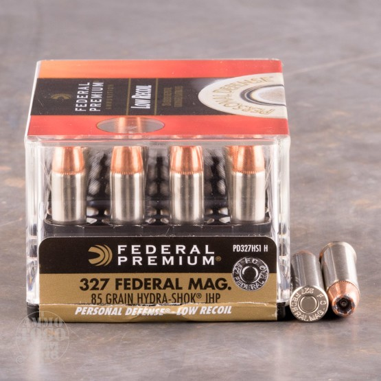 20rds - 327 Federal Magnum Federal Hydra-Shok 85gr. Hollow Point Ammo