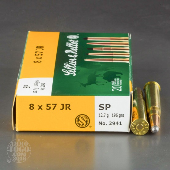 20rds - 8 x 57 JR Rimmed Sellier & Bellot 196gr. Soft Point Ammo