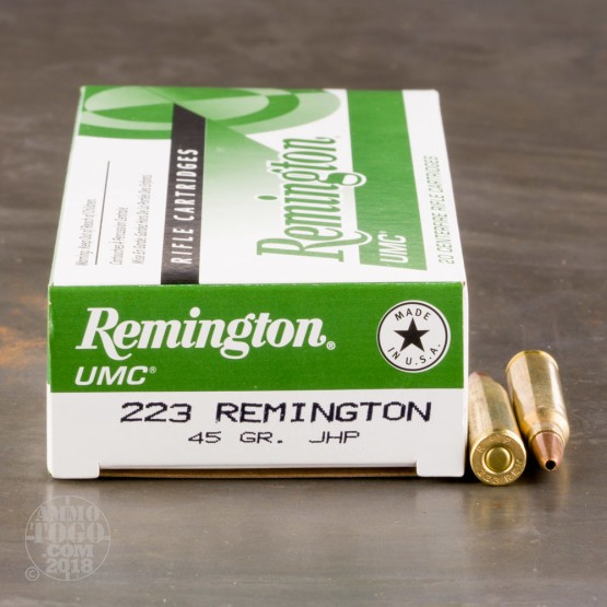 20rds - 223 Remington UMC 45gr. JHP Ammo
