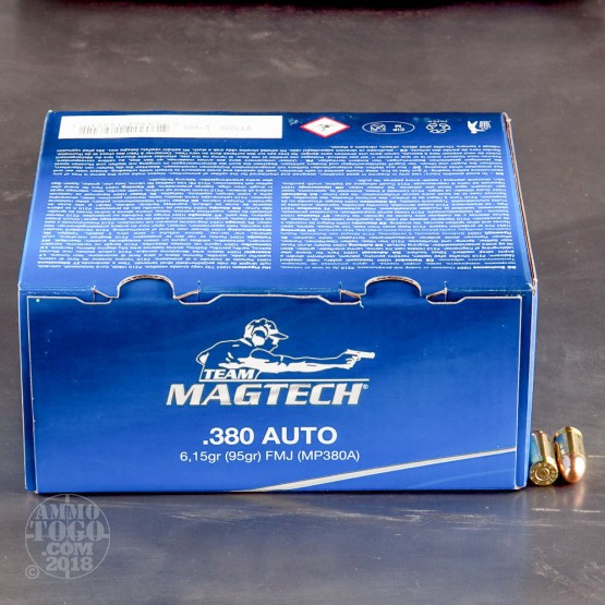 250rds - 380 Auto MAGTECH 95gr. FMJ Ammo Value Pack