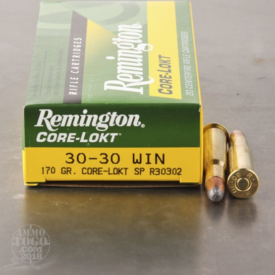 20rds - 30-30 Remington 170gr. Core-Lokt Soft Point Ammo