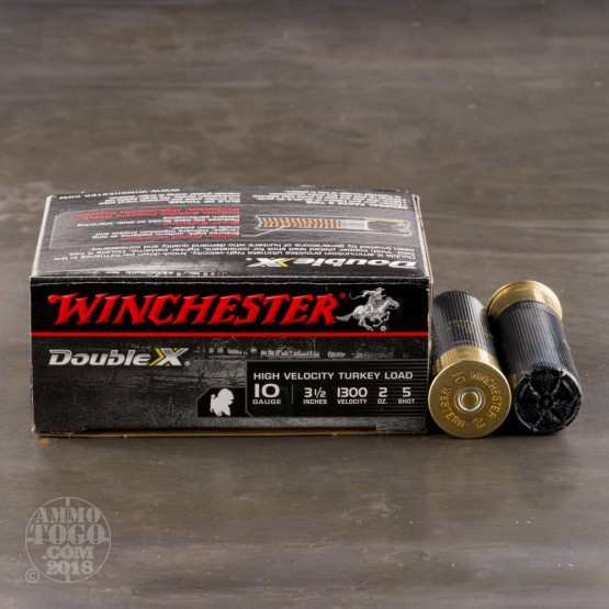 """10rds - 10 Gauge Winchester Double X 3-1/2""""  2oz. #5 Shot Ammo"""