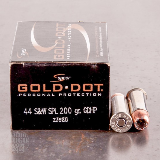 20rds - 44 Special Speer Gold Dot 200gr. Hollow Point Ammo