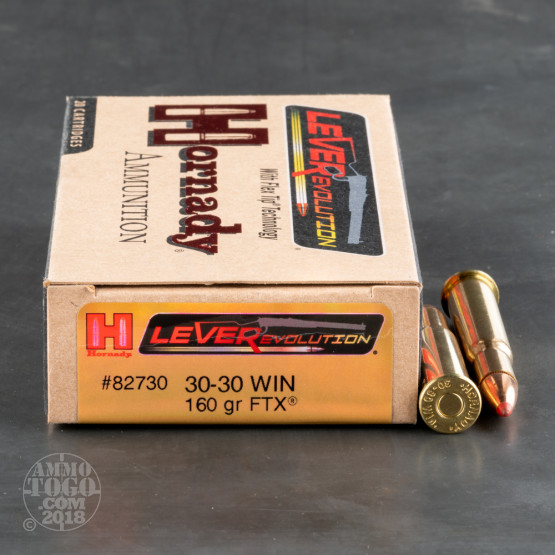 200rds – 30-30 Hornady LEVERevolution 160gr. FTX Ammo