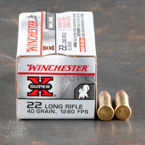 500rds - 22LR Winchester 40gr. Power Point Hollow Point