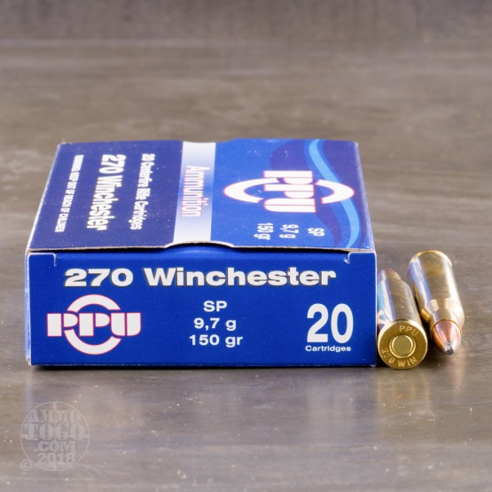 500rds – 270 Win Prvi Partizan 150gr. Soft Point Ammo