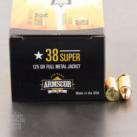 50rds - 38 Super Auto ARMSCOR USA Precision 125gr. FMJ Ammo
