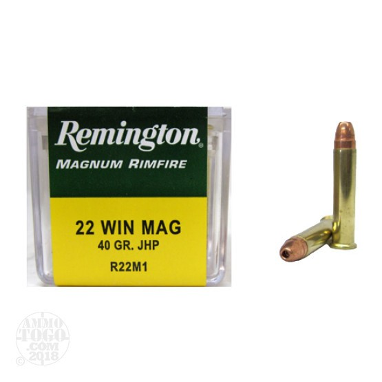 50rds - 22 Mag Remington 40gr. Hollow Point Ammo