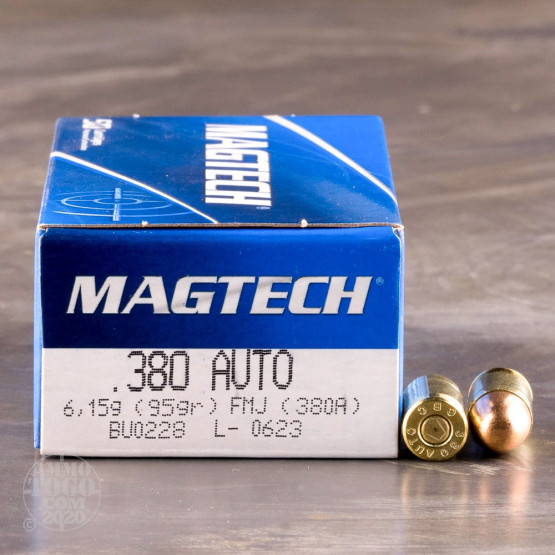 50rds – 380 Auto Magtech 95gr. FMJ Ammo