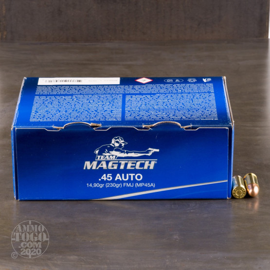 250rds - 45 ACP MAGTECH 230gr. FMJ Value Pack Ammo