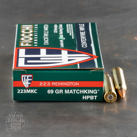20rds - 223 Fiocchi 69gr. Matchking Hollow Point Ammo