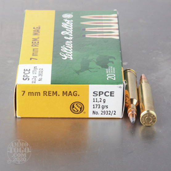 20rds - 7mm Rem Mag Sellier and Bellot 173gr. SPCE Ammo