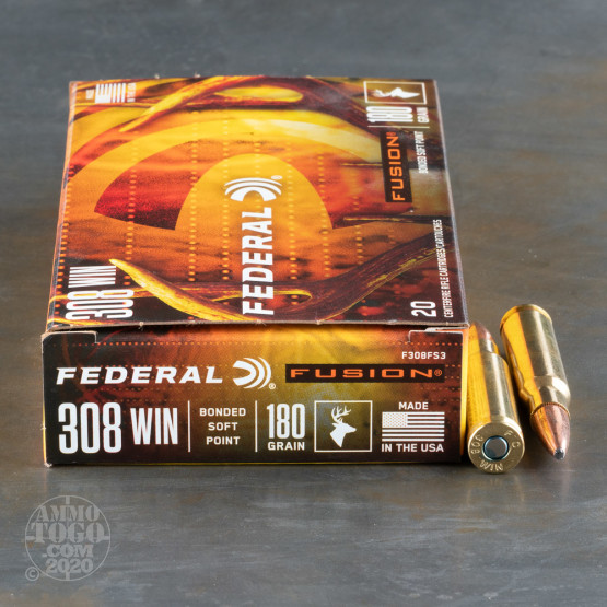 20rds – 308 Win Federal Fusion 180gr. SP Ammo