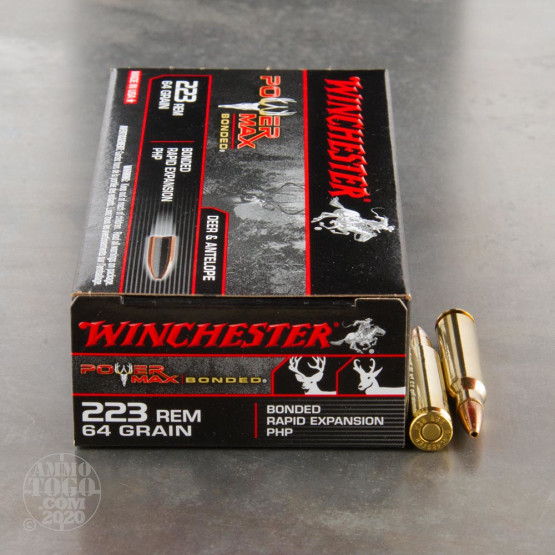 20rds - .223 Winchester Power Max Bonded 64gr. PHP Ammo