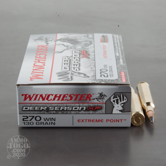 20rds – 270 Winchester Deer Season 130gr. 130 Grain Extreme Point PT Ammo