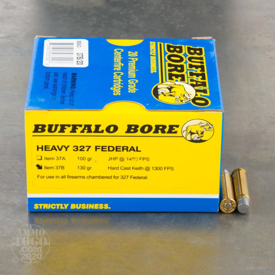 20rds - 327 Federal Buffalo Bore 130gr. Hard Cast Keith WC Ammo
