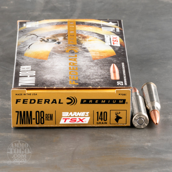 7mm-08 Remington TSX Ammo for Sale by Federal - 20 Rounds
